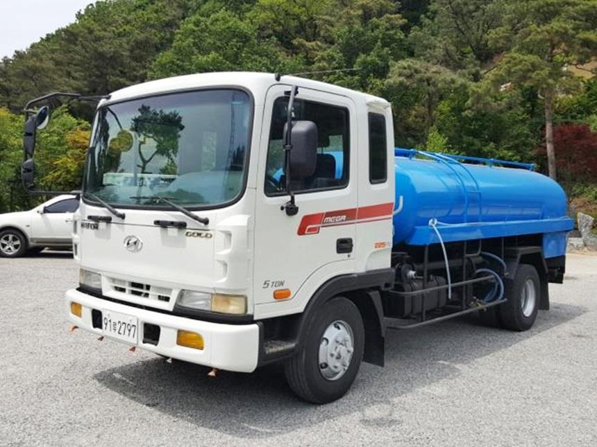 현대5톤 살수차 4600탱크 2003년5월식 스텐탱크 살수구변완료